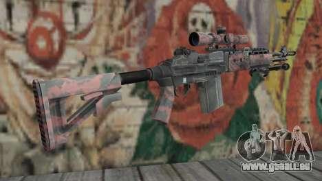 M14 EBR Red Tiger pour GTA San Andreas deuxième écran