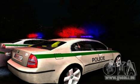 Skoda Superb POLICIE für GTA San Andreas zurück linke Ansicht