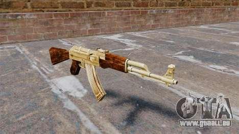 Plaqué or de AK-47 pour GTA 4