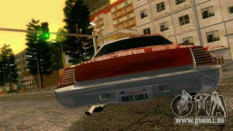 Chevy Monte Carlo Lowrider pour une vue GTA Vice City de la droite