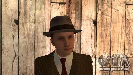 Cole Phelps de L.A. Noire pour GTA San Andreas troisième écran