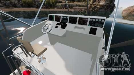 Sport fishing yacht für GTA 4 Innenansicht