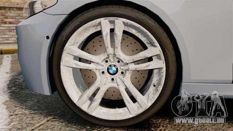 BMW M5 Unmarked Police [ELS] für GTA 4 Rückansicht