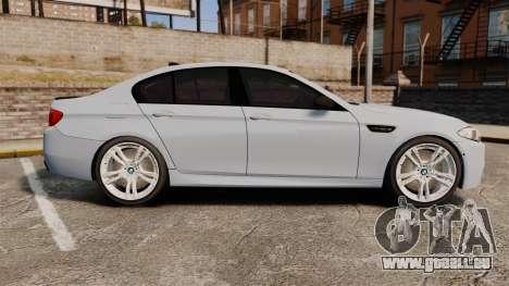 BMW M5 Unmarked Police [ELS] für GTA 4 linke Ansicht