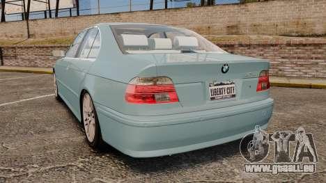 BMW 525i (E39) für GTA 4 hinten links Ansicht