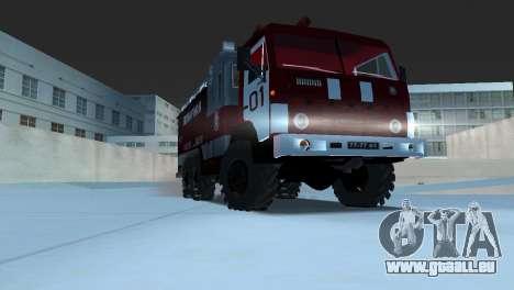 KAMAZ 43101 pompier pour GTA Vice City sur la vue arrière gauche
