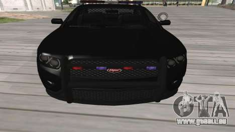 GTA V Police Cruiser pour GTA San Andreas laissé vue
