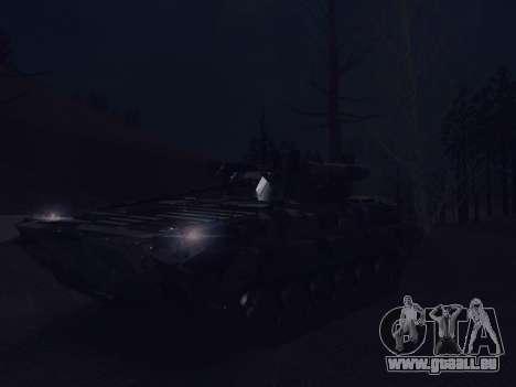 BMP-2 pour GTA San Andreas vue de dessous