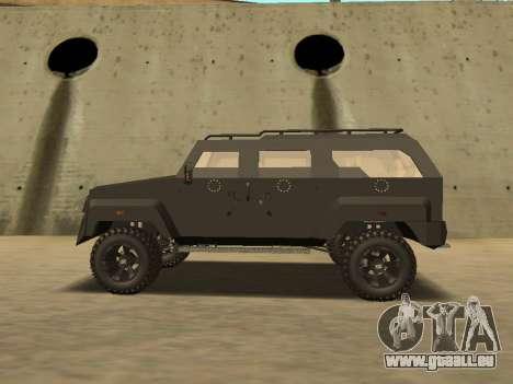 Ford Super Duty Armored pour GTA San Andreas sur la vue arrière gauche