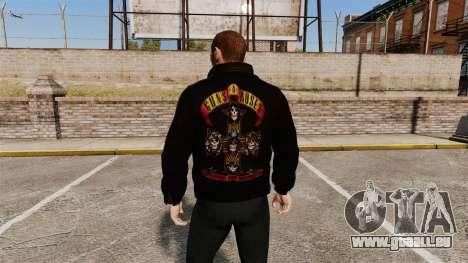 Veste en cuir-Guns N Roses- pour GTA 4 secondes d'écran