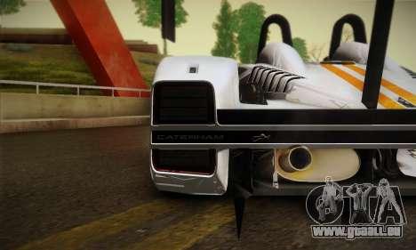 Caterham-Lola SP300.R für GTA San Andreas zurück linke Ansicht