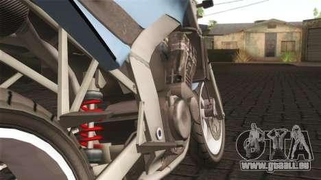 Ducati FRC900 v3 pour GTA San Andreas sur la vue arrière gauche