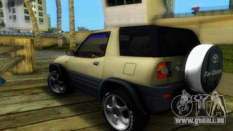Toyota RAV 4 L 94 Fun Cruiser pour GTA Vice City vue arrière