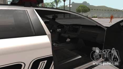 GTA V Police Cruiser pour GTA San Andreas sur la vue arrière gauche