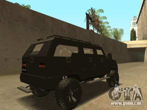 Ford Super Duty Armored für GTA San Andreas Rückansicht