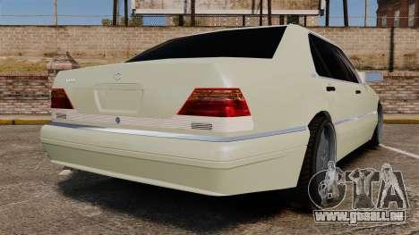 Mercedes-Benz S600 (W140) 1998 für GTA 4 hinten links Ansicht