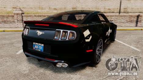 Ford Mustang GT 2013 NFS Edition für GTA 4 hinten links Ansicht