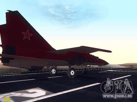 MiG 25 pour GTA San Andreas vue de côté