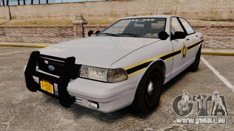 GTA V Vapid Police Cruiser Scheriff [ELS] für GTA 4