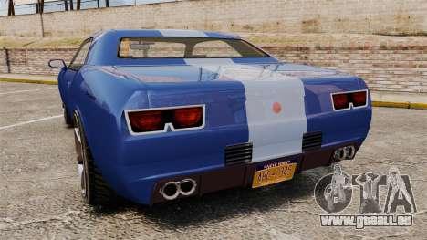 GTA V Declasse Gauntlet ZL1 pour GTA 4 Vue arrière de la gauche
