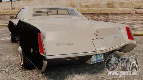 Cadillac Eldorado Coupe 1969 für GTA 4 hinten links Ansicht