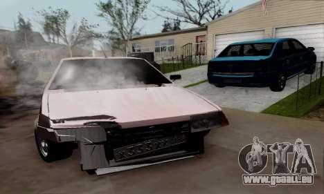 VAZ 21099 Hobo pour GTA San Andreas sur la vue arrière gauche