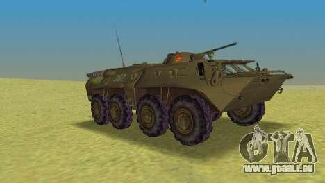 BTR-80 pour une vue GTA Vice City de la droite