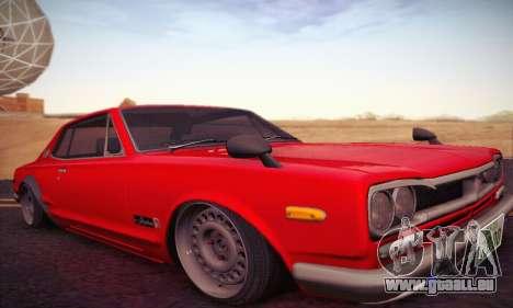 Nissan Skyline 2000GTR 1967 Hellaflush für GTA San Andreas linke Ansicht
