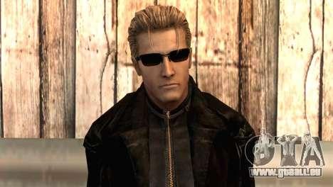 Albert Wesker dans le manteau pour GTA San Andreas troisième écran