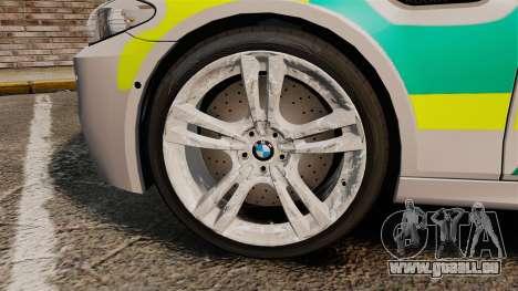 BMW M5 Ambulance [ELS] pour GTA 4 Vue arrière