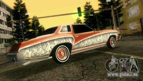 Chevy Monte Carlo Lowrider pour GTA Vice City vue arrière