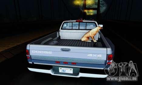 Dodge Ram 3500 pour GTA San Andreas vue intérieure