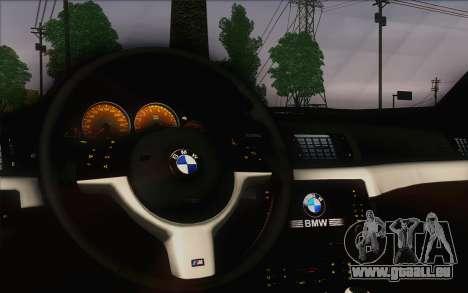 BMW M3 E46 2005 pour GTA San Andreas vue intérieure