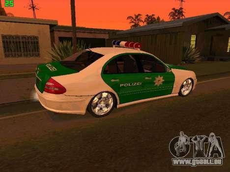 Mercedes-Benz  E500 Polizei pour GTA San Andreas laissé vue
