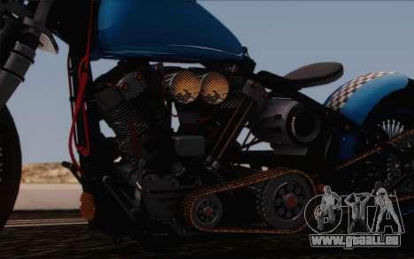 Harley-Davidson Knucklehead pour GTA San Andreas vue intérieure