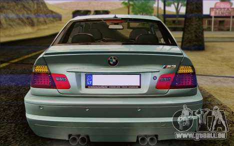 BMW M3 E46 2005 pour GTA San Andreas salon