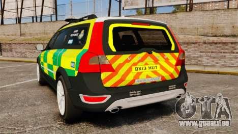 Volvo XC70 Paramedic [ELS] pour GTA 4 Vue arrière de la gauche