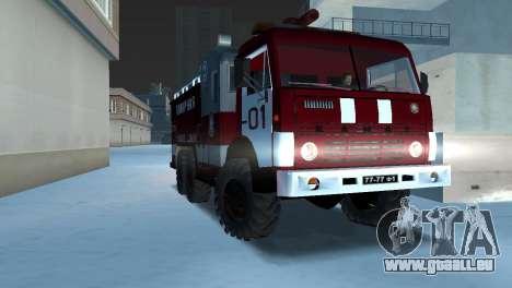 KAMAZ 43101 pompier pour GTA Vice City