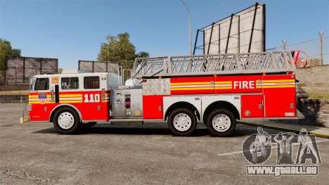 MTL Firetruck MDH1000 Midmount Ladder FDNY [ELS] für GTA 4 linke Ansicht