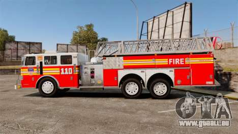 MTL Firetruck MDH1000 Midmount Ladder FDNY [ELS] pour GTA 4 est une gauche