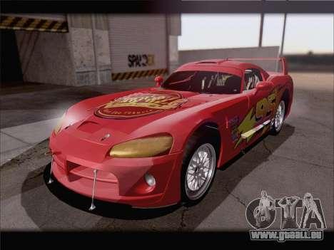 Dodge Viper Competition Coupe pour GTA San Andreas vue de dessus