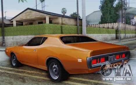 Dodge Charger 1971 Super Bee pour GTA San Andreas laissé vue