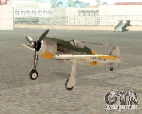 Focke-Wulf FW-190 F-8 für GTA San Andreas