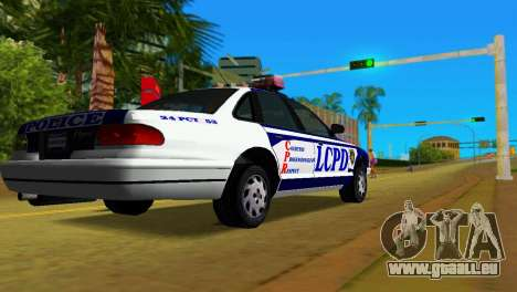 GTA IV Police Cruiser für GTA Vice City linke Ansicht