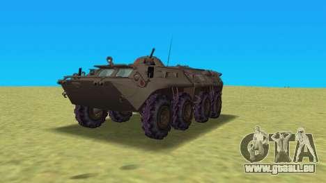 BTR-80 pour une vue GTA Vice City de la gauche