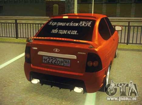 VAZ-2172 Coupé Sport pour GTA San Andreas vue arrière