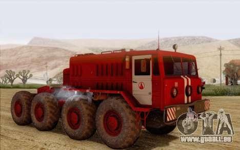 MAZ 535 pompier pour GTA San Andreas laissé vue