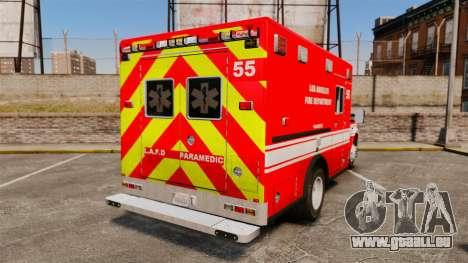 Ford E-350 LAFD Ambulance [ELS] pour GTA 4 Vue arrière de la gauche