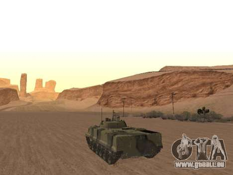 BMP-3 pour GTA San Andreas sur la vue arrière gauche