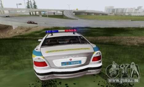 GAZ-3111 Miliciâ Ukraine pour GTA San Andreas vue arrière